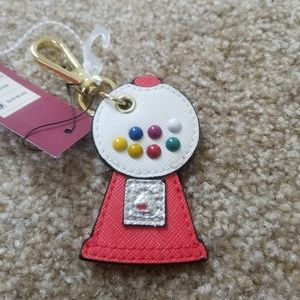 Mossimo Gumball Gold Tone Keychain